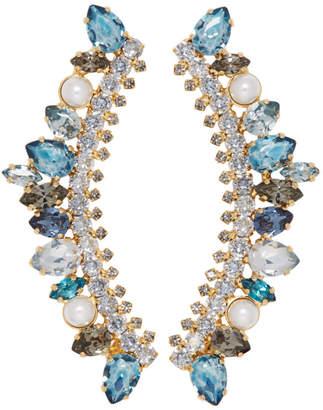 Erdem Blue Arch Earrings