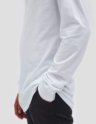 John Elliott LS Classic Curve Tee in White