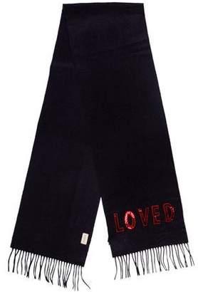 Gucci Loved Silk & Wool-Blend Scarf w/ Tags