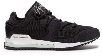 Y-3 Y 3 Harigane Low Top Mesh Trainers - Mens - Black