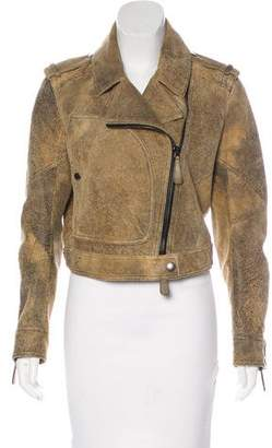 Burberry Distressed Leather Jacket