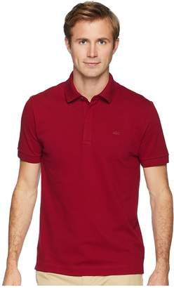 Lacoste Short Sleeve Solid Stretch Pique Regular Men's Short Sleeve Pullover