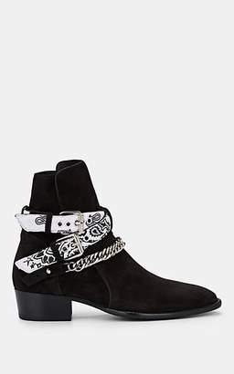 Amiri Men's Bandana-Strap Suede Jodhpur Boots - Black