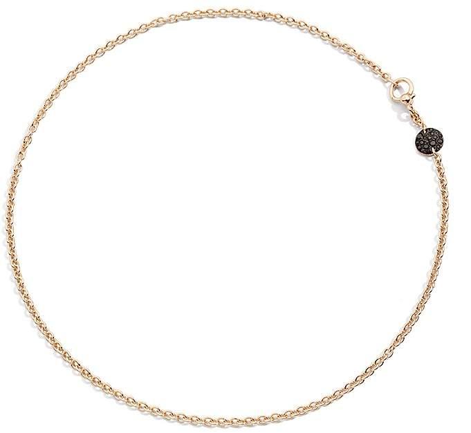 Pomellato Sabbia Necklace with Black Diamonds in 18K Rose Gold