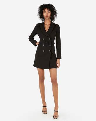 Express Double Breasted Belted Suit Dress