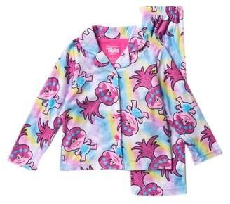 AME Trolls Poppy Button Down Pajama Set (Little Girl & Big Girls)