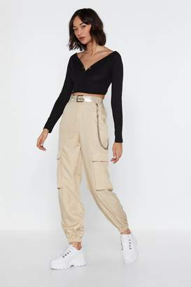 Nasty Gal Let It Cargo High-Waisted Pants