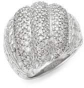 John Hardy Sterling Silver & Diamond Ring