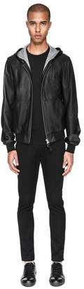 Mackage WOODROW Bonded leather jacket with kangaroo pocket