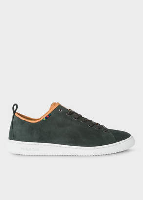 Paul Smith Men's Dark Green Suede 'Miyata' Trainers