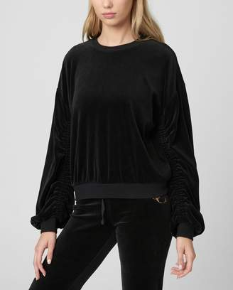 Juicy Couture Velour Ruched Sleeve Pullover