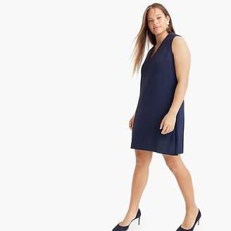 J.Crew Sleeveless V-neck dress in lightweight twill