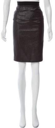 Les Copains Metallic Knee-Length Skirt