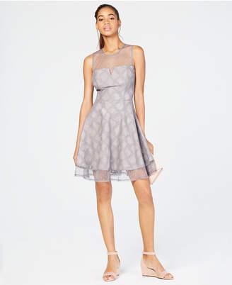 City Studios Juniors' Glitter Fit & Flare Dress
