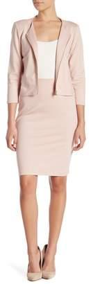Philosophy Apparel Zip Back Ponte Suit Skirt (Petite)