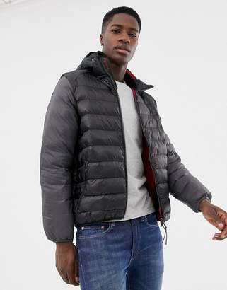 Barbour jib hooded padded jacket in black