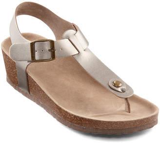 Arizona Zanda Womens T-Strap Footbed Sandals
