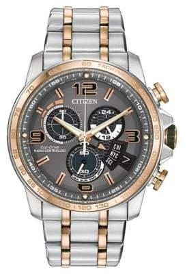 Citizen Mens Eco Drive Two Tone Chronograph Watch