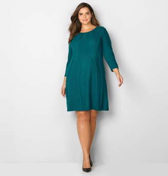 Avenue Cable Trim Sweater Dress