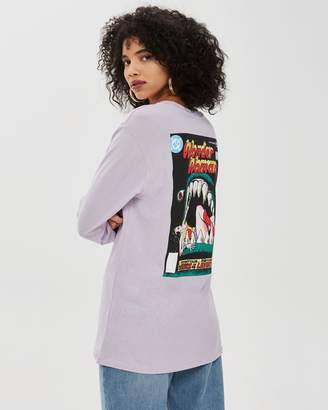 Topshop Wonder Woman Long Sleeve T-Shirt