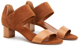 Aquatalia Nala Waterproof Leather & Suede Sandal