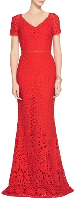 Embroidered Lace Raglan Gown $1,995 thestylecure.com