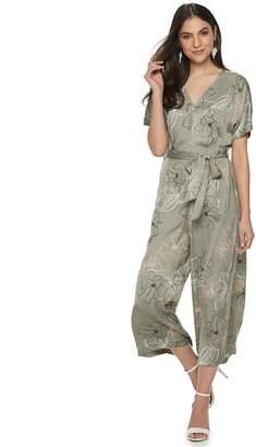 JLO by Jennifer Lopez Women's Kimono-Sleeve Crop Jumpsuit