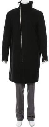 Rick Owens Wool Zip-Up Coat