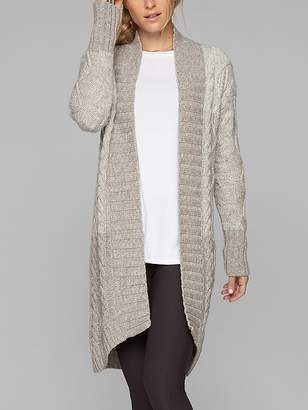 Athleta Wool Cashmere Cable Wrap