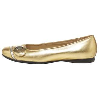 Hogan Gold Leather Ballet flats