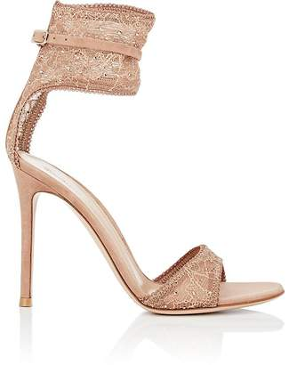 Gianvito Rossi Women's Halle Lace & Suede Sandals