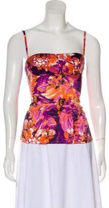 Just Cavalli Floral Print Sleeveless Top w/ Tags