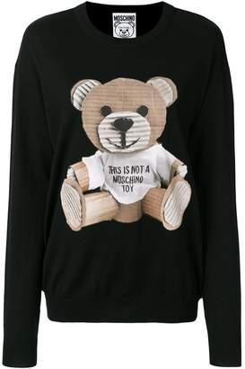 Moschino cardboard teddy jumper
