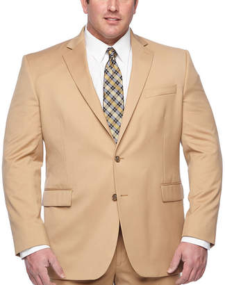 STAFFORD Stafford Khaki Classic Fit Stretch Suit Jacket - Big & Tall