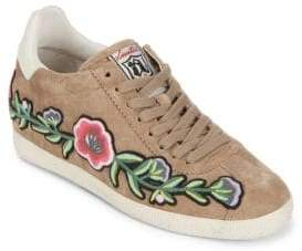 Ash Gull Embroidered Suede Sneakers