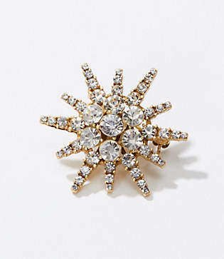 LOFT Crystal Starburst Pin