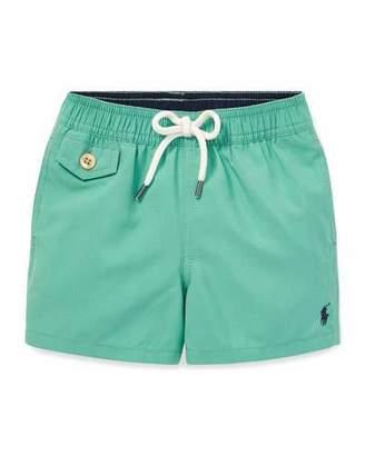 Ralph Lauren Childrenswear Drawstring Swim Trunks, Size 12-24 Months