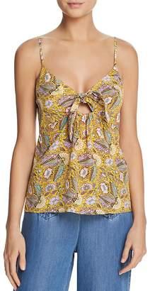 Ella Moss Floral-Print Tie-Front Cami