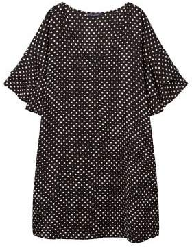 Violeta BY MANGO Polka-dot ruffled dress