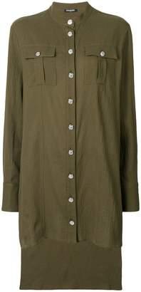 Balmain asymmetric elongated blouse