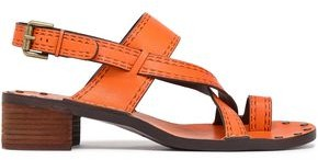 See by Chloe Embossed Leather Slingback Sandals
