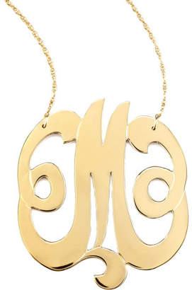 Jennifer Zeuner Jewelry Swirly Initial Necklace, M
