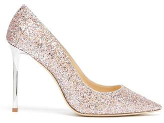 Jimmy Choo Romy 100 Glitter Pumps - Womens - Pink