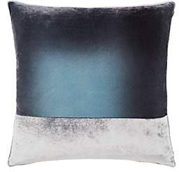 Kevin OBrien Kevin O'Brien Colorblocked Silk Velvet Pillow