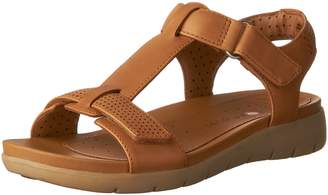 adb3eedf3c4 Clarks Brown Leather Lined Sandals For Women - ShopStyle Canada
