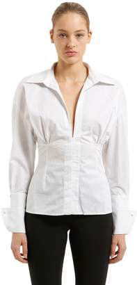 Jacquemus Striped Cotton Poplin Paula Corset Shirt