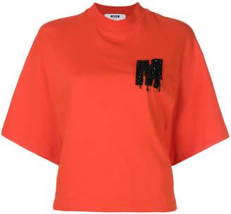 MSGM high-neck logo T-shirt