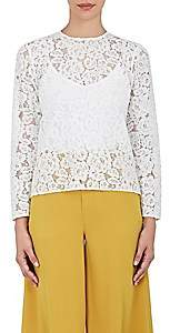 Barneys New York Women's Cotton-Blend Lace Blouse - White