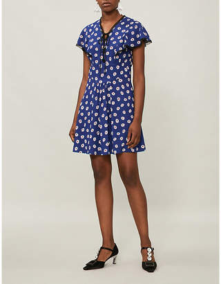 Miu Miu Floral-print stretch-crepe dress