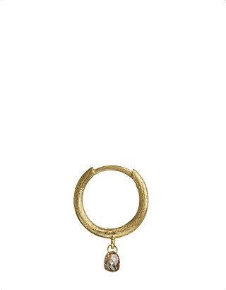 Annoushka 18ct gold and brown diamond hoop earring